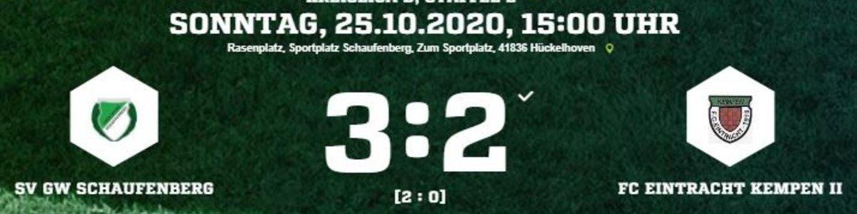 Eintracht II unterliegt 2:3 beim Tabellennachbarn Schaufenberg