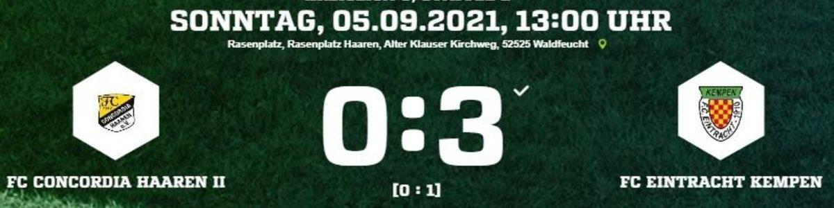 Eintracht I in Haaren II mit klarem 3:0 Erfolg