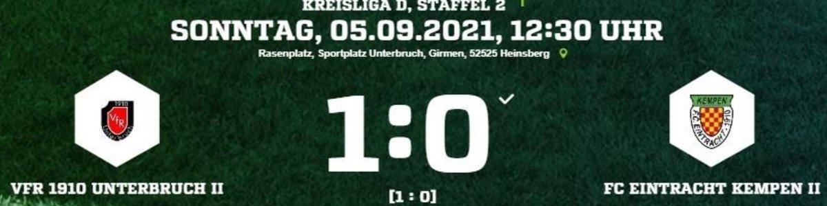 Eintracht II unterliegt im Lokalderby beim VfR Unterbruch II mit 0:1