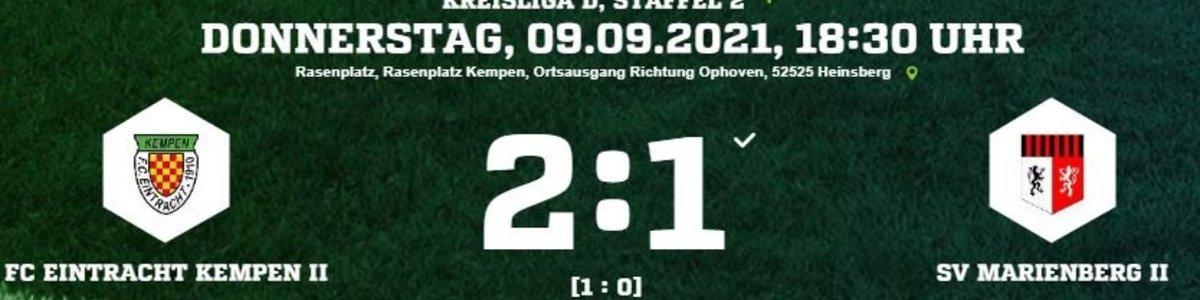 Siegtor von Eintracht II gegen Marienberg II in der Nachspielzeit