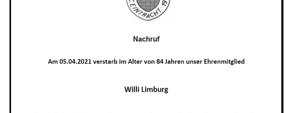 Nachruf Willi Limburg