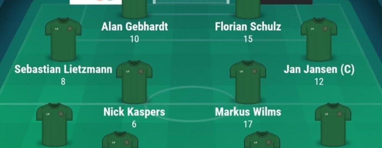 Eintracht I unterliegt Karken I im Test mit 0:4